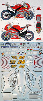 STUDIO 27 1/12 STUDIO27 DECAL YZR-M1 TECH3 '05 XAUS CHECA TAMIYA
