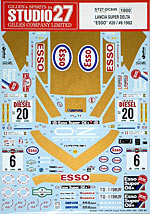 STUDIO 27 1/20 ESSO 92 DECAL for HASEGAWA LANCIA SUPER DELTA