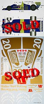 STUDIO 27 1/12 FULL SPONSOR DECAL for TAMIYA 1/12 WOLF WR1