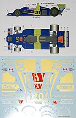STUDIO 27 1/20 FULL SPONSOR DECAL for TAMIYA 1/20 WOLF WR1