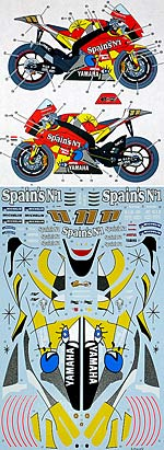 STUDIO 27 1/12 STUDIO 27 DECAL YZR-M1 TECH3 '05 RUBEN XAUS TAMIYA