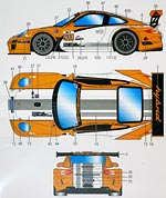 STUDIO 27 1/24 HYBRID ALMS 10 DECAL for FUJIMI PORSCHE 911 GT3 RS