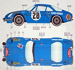 STUDIO 27 1/24 ST27 RENAULT ALPINE A110 MC 71 DECAL for TAMIYA