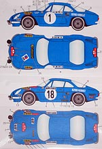 STUDIO 27 1/24 ST27 RENAULT ALPINE A110 MC 72 73 DECAL for TAMIYA