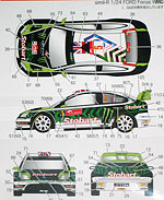 STUDIO 27 1/24 FORD FOCUS STOBART MONSTER ELAINE KATIE 2010