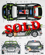 STUDIO 27 1/24 FORD FOCUS STOBART MONSTER BLOCK GELSOMINO 2010