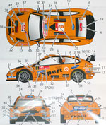 STUDIO 27 1/24 FORD FOCUS EXPERT HOKKAIDO 2010 DECAL for SIMIL'R