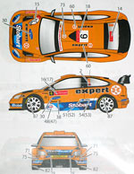 STUDIO 27 1/24 FORD FOCUS EXPERT 2009 DECAL for SIMIL'R 1/24