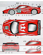STUDIO 27 1/24 FERRARI 458 LUXURY RACING LM '11 FUJIMI 1/24