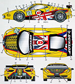 STUDIO 27 1/24 FERRARI 458 DECAL JMW MOTORSPORT #66 2011 FUJIMI