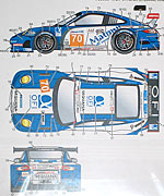 STUDIO 27 1/24 PORSCHE 911 RSR MATMUT DECAL #70 24Hr LM 2011