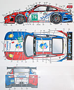 STUDIO 27 1/24 PORSCHE 911 RSR MATMUT DECAL #76 24Hr LM 2011