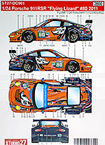 STUDIO 27 1/24 PORSCHE 911RSR FLYING LIZZARD #80 '11 LONG LUHR