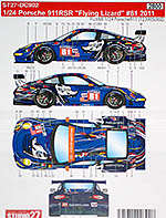 STUDIO 27 1/24 PORSCHE 911RSR FLYING LIZZARD #81 '11 LAW NEIMAN