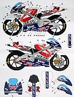 STUDIO 27 1/12 HONDA RSW250 #74 MOTO GP 2000 DECAL HASEGAWA