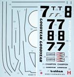 STUDIO 27 1/12 BT44 US GP 1974 WATKINS GLEN TAMIYA 1/12 BT44B