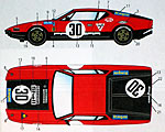 STUDIO 27 1/24 LM 1972 #30 DECAL SET FUJIMI 1/24 DE TOMASO PANTER