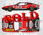 STUDIO 27 1/24 LM 1972 #32 DECAL SET FUJIMI 1/24 DE TOMASO PANTER