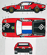 STUDIO 27 1/24 LM 1972 #33 DECAL SET FUJIMI 1/24 DE TOMASO PANTER