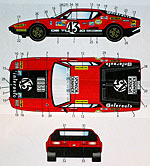 STUDIO 27 1/24 LM 1975 #43 DECAL SET FUJIMI 1/24 DE TOMASO PANTER