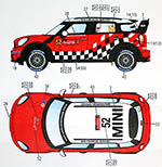 STUDIO 27 1/24 MINI JOHN COOPER WORKS WRC #37 #52 2011