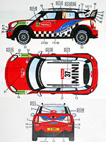 STUDIO 27 1/24 MINI JOHN COOPER WORKS WRC #37 #52 2012