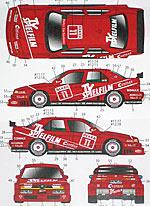 STUDIO 27 1/24 TV SPIELFILM #11 #12 DTM '94 ALFA ROMEO 155 V6 TI
