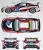 STUDIO 27 1/24 TOYOTA 86 #165 #166 NUR 24Hr 2012 DECAL for TAMIYA