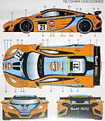 STUDIO 27 1/24 McLAREN MP4-12 GT3 G ULF #21 MACAU GP DECAL