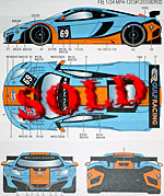STUDIO 27 1/24 McLAREN MP4-12 GT3 G ULF #9 #69 2012 DECAL