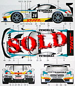 STUDIO 27 1/24 BMW Z4 PETRONAS #36 2012 DECAL for FUJIMI GT3