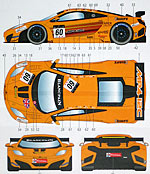 STUDIO 27 1/24 McLaren MP4-12 GT3 #58 59 60 SPA 24H DECAL Fujimi