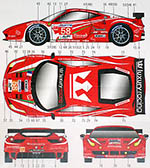 STUDIO 27 1/24 FERRARI 458 LUXURY RACING #58 #59 LM '12 MELO MAKO