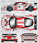 STUDIO 27 1/24 FERRARI 458 JMB RACING LM 2012 DECAL for FUJIMI