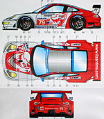 STUDIO 27 1/24 PORSCHE RSR LM 2012 #79 #80 FLYING LIZARD