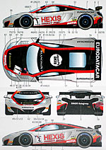 STUDIO 27 1/24 MP4-12 GT3 HEXIS #1 #2 FIA-GT1 2012 DECAL