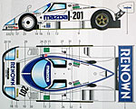 STUDIO 27 1/24 MAZDA 787B CHARGE #201 JSPC1991 DECAL