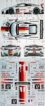 STUDIO 27 1/24 McLAREN MP4-12C BLANCPAIN 2012 ART CAR DEMOUSTIER