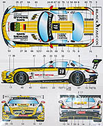 STUDIO 27 1/20 MERCEDES SLS AMG GT3 #19 BLACK FALCON 2012