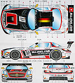 STUDIO 27 1/20 1/24 MERCEDES SLS AMG GT3 #37 ALL-INKL.COM 2012