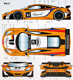 STUDIO 27 1/20 MCLAREN MP4-12C LAPIDUS RACING #62 BLANCPAIN 2012