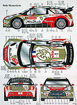 STUDIO 27 1/24 CITROEN DS3 WRC 2013 MONTE CARLO SWEDEN LOEB DECAL