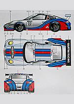 STUDIO 27 1/24 PORSCHE 911GT1 MARTINI (2013) LOEB FUJIMI GT3R