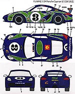 STUDIO 27 1/24 PORSCHE CAYMAN #3 HIPPY CAR DECAL