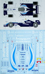 STUDIO 27 1/20 CONV DECAL WILLIAMS FW29 07 1/20 FUJIMI 248 F1