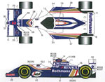 STUDIO 27 1/20 CONV DECAL HILL FW16B FROM 1/20 TAMIYA MP4/8