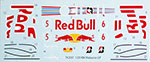 STUDIO 27 1/20 TRANSDECAL FILL IN RB6 RED BULL MALAYSIA GP 2010