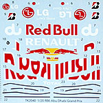STUDIO 27 1/20 TRANSDECAL FILL IN RB6 RED BULL ABU DHABI GP 2010