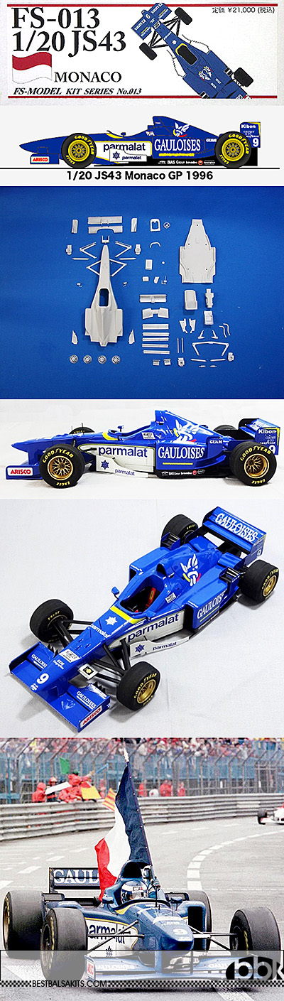 STUDIO 27 1/20 LIGIER JS43 MONACO 1996 VERSION F1 PANIS DINIZ