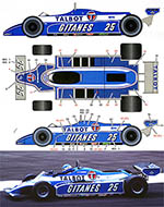 STUDIO 27 1/20 LIGIER JS17 1981 LATE VERSION F1 TAMBAY LAFFITE